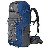 Coreal 50L Hiking Backpack Camping Rucksack Trekking Daypack Climbing Bag Blue