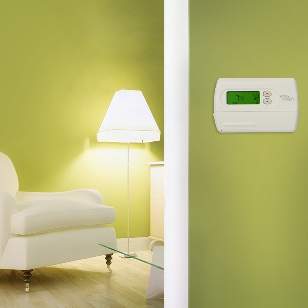 Emerson 1F86-344 Non-Programmable Thermostat for Single-Stage Systems