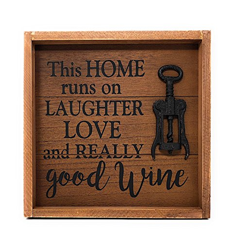Wine Decor Wall Art - This home runs on laughter, love, and really good WINE.