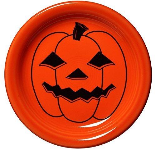 Fiestaware Halloween Appetizer Plate (6.5ö) - Spooky Pumpkin