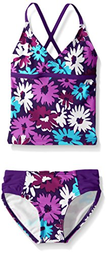 Kanu Surf Toddler Girls' Candy Beach Sport 2-Piece Tankini Swimsuit, Allison Floral Purple, 2T