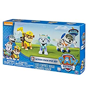 Paw Patrol, Action Pup 3Pk, Everest/Robodog/Rubble by Spin Master