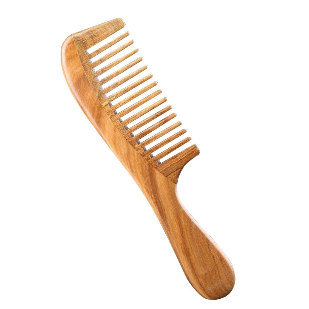 Vinmax Sandalwood Wide-Tooth,Natural Anti-Static Comb for Detangling Wet Hair (Wood Color)