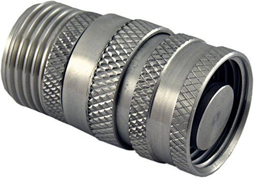 Duda Diesel Quick Disconnect Garden Hose Fitting with Stop 304 Stainless Steel Male X Female GHT