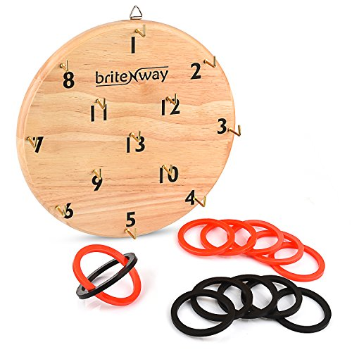 briteNway Ultimate Hook & Ring Toss Game For Kids & Adults – Fun & Educational Ring Tossing Toy Set, Safe & Durable Design, Easy To Install & Perfect For Children's Parties – Exciting Gift Idea by briteNway