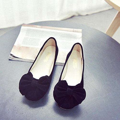 Bailarina mujer Manoletinas Culater Pumps Cerrados Zapatos Ballet cl B5PWE