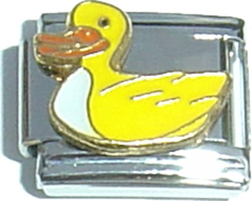 (Yellow Duck Italian Charm)
