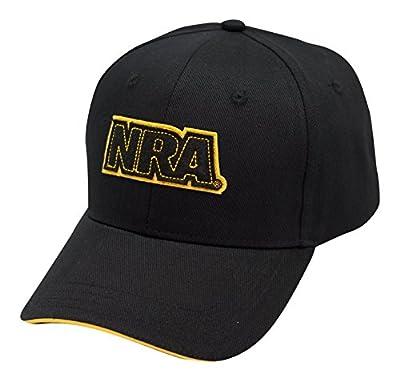 NRA Applique Logo Black Cap - Officially Licensed