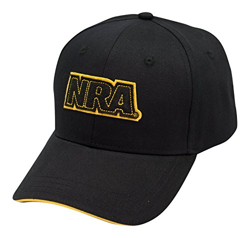 NRA Applique Logo Black Cap - Officially Licensed