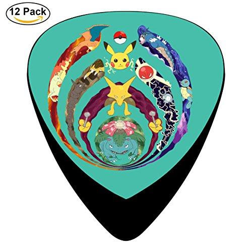 Bass-nectar band Guitar Picks 12-Pack Celluloid Paddles Plectrums 0.46mm/ 0.71mm/ 0.96mm for Medium Adult&Kidls Guitar Bass Musical - Nectar Band
