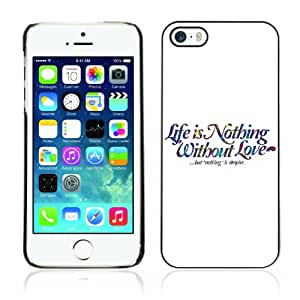 DesignHeaven Slim Design Case Apple iPhone 5 / 5S ( Cool Funny Message Life Love Simple )