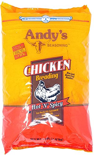 Andy's Seasoning Hot n Spicy Chicken Breading 5 Lb Bag by Andy's