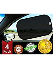 kinder Fluff Window Shade (4px) – The Only Certified Sunshade Proven to Block 99.79% UVA & 99.95% UVB – Winner of Mom's Choice Gold Award – Baby Sun Shades 120gsm &15s Static film for Cars, SUV, truck