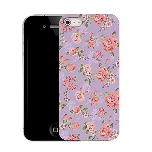 Mobile Case Mate IPhone 4s clip on Silicone Coque couverture case cover Pare-chocs + STYLET - blossoming herbaceous pattern (SILICON)