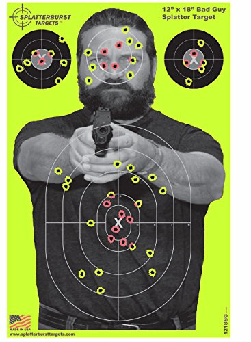 "Splatterburst Targets - 12 x18 inch - ""Bad Guy"" Reactive Sho"