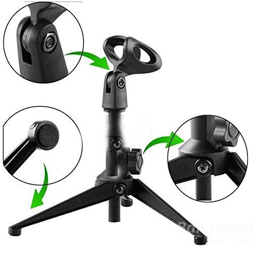 Mark8shop regolabile in metallo, microfono da tavolo, da scrivania con morsetto, Clip-Supporto per treppiede