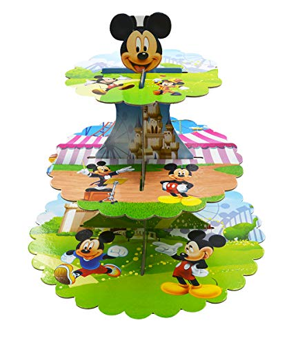 3-Tier Cute Round Mickey mouse Muffin Cupcake Holder Cupcake Stand (Mickey mouse) -