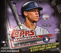 2017 Topps Baseball Update Series Jumbo Box 10 Packs of 50 Cards; 1 Autograph, 2 Jerseys - Possible Cody Bellinger, Aaron Judge, All-Star game cards