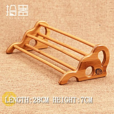Best Quality - Tea Trays - Bamboo Storage Rack mug Holder Shelf Wooden Tray Kitchen Tea Cup Organizer Tea Table Cup Plate Kitchen Tool Board Accessories - by Viet SF - 1 PCs]()