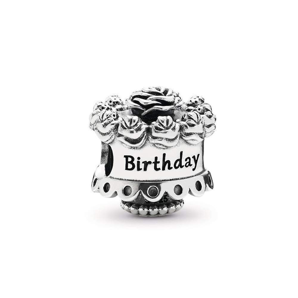 Happy Birthday Charm,Sterling Silver Women Bead Charms