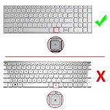 """[2 Pack] Keyboard Cover Skin for 15.6"""" HP Pavilion"""