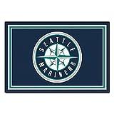FANMATS MLB Seattle Mariners Nylon Face 5X8 Plush Rug
