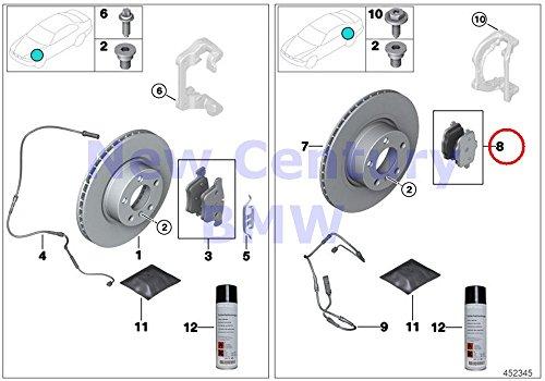BMW Genuine Rear Brake Pads Asbestos-Free Repair Kit 528i 528iX 535i 535iX Hybrid 5 528i 528iX 535d 535dX 535i 535iX Hybrid 5 X3 28dX X3 28i X3 28iX X3 35iX X4 28iX X4 35iX by BMW