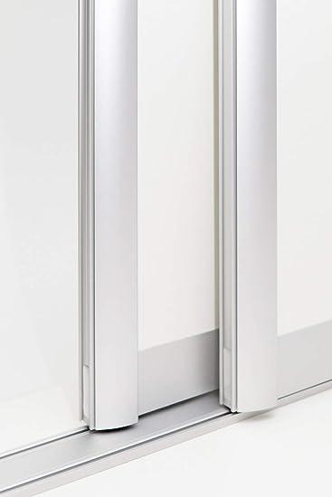 Kit de puerta corredera con marco de aluminio tipo C. Incluye herrajes para 2 puertas, máx. Dimensiones de las alas: 1050 x 2750 mm. El relleno es de 2000 mm.: Amazon.es: Bricolaje y herramientas