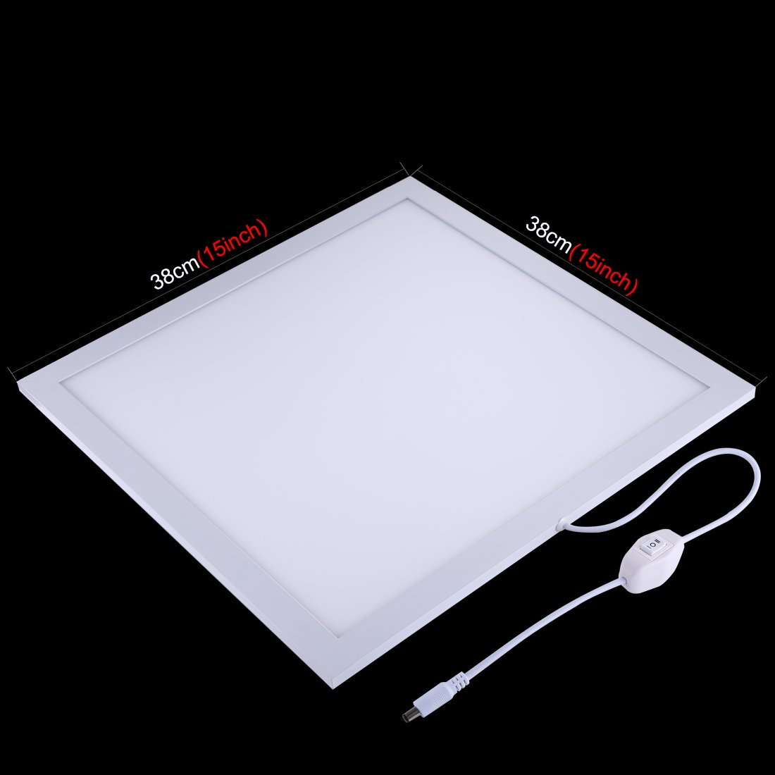 PULUZ 38cm X 38cm / 15in X 15in Dimmable LED Photography Photo Video Light Panel Shadowless Softbox Bottom Light Panel Brightness Adjustable