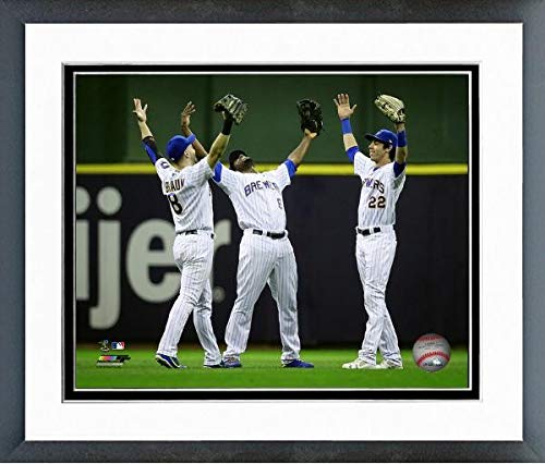 Cain, Christian Yelich 2018 Milwaukee Brewers Action Photo (Size: 12.5