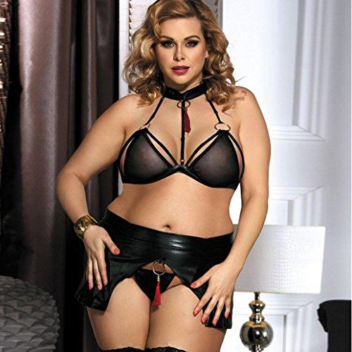 Vtements sous Sexy Cuir Lingerie Femmes Costumes Plus Vtements Noir Taille Ensemble en aWRwp4Sgq