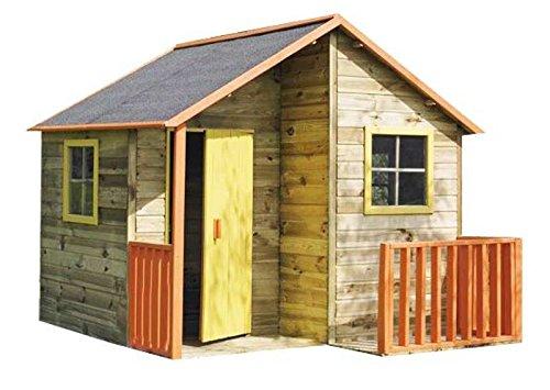 Spielhaus Max - Kinderspielhaus Holz für den Garten, FSC zertifieziert/ TÜV geprüft inkl. Dachpappe