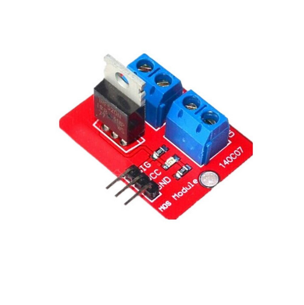 Kentop irf520  conductor Mó dulo MOS Tube MOSFET conductor Mó dulo para Arduino ARM Raspberry, rojo, 1PCS