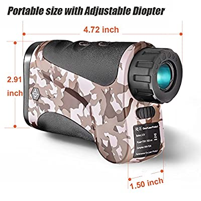 Gosky Hunting Range Finder Laser Rangefinder for Hunting with Ranging/Speed/Scanning/Angle Model for Hunting, Normal Measurements (LE1000A, 1094yd/1000m) by Suzhou Newbridge Electronic Science And Technology Co., Ltd.