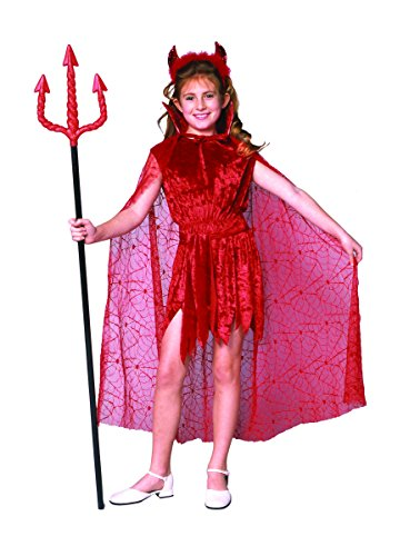 [Glamour Devil With Cape (Standard;Large)] (Devil Costume For Girls)