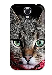 6120959K96788471 New Premium Grey Cat Skin Case Cover Excellent Fitted For Galaxy S4