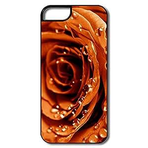 Custom Unique TPU Back Cover Case Iphone 5 5S,Golden Rose