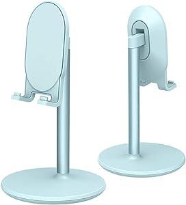 Phone Stand for Desk, Cell Phone Stand Adjustable Desk Phone Holder Tablet Holder Phone Dock (Blue)