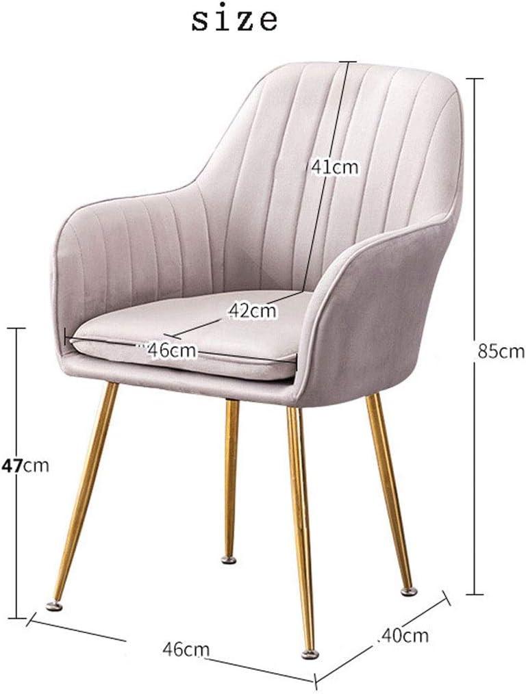 Cuisine moderne Side Chair, Retro Chaise en cuir, luxe Fauteuils Canapés Chaise, exquis maquillage-Dressing tabouret Chaise longue (Color : Pink) Blue