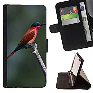 - Bird in the Tree - - Caja de la carpeta del tirš®n del cuero de la PU [con ranuras para tarjetas y cierre de solapa magnšŠtica] Pš¢rese cubierta de la caja FOR HTC One M7 Skull Market