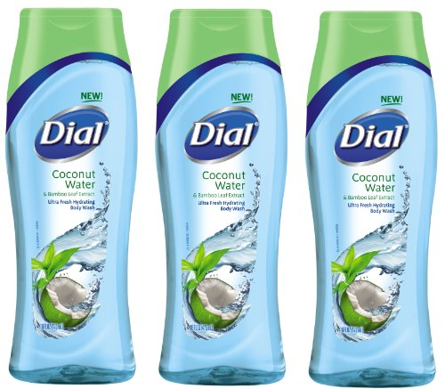 (Dial Body Wash Coconut Water and Bamboo Leaf Extract, 16 Ounce (Pack of 3))