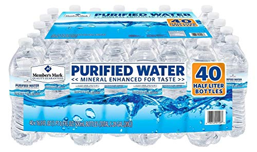 (Member's Mark 40 Piece Purified Bottled Water, 16.9 oz. )
