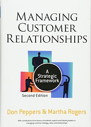 Managing Customer Relationships  A Strategic Framework
