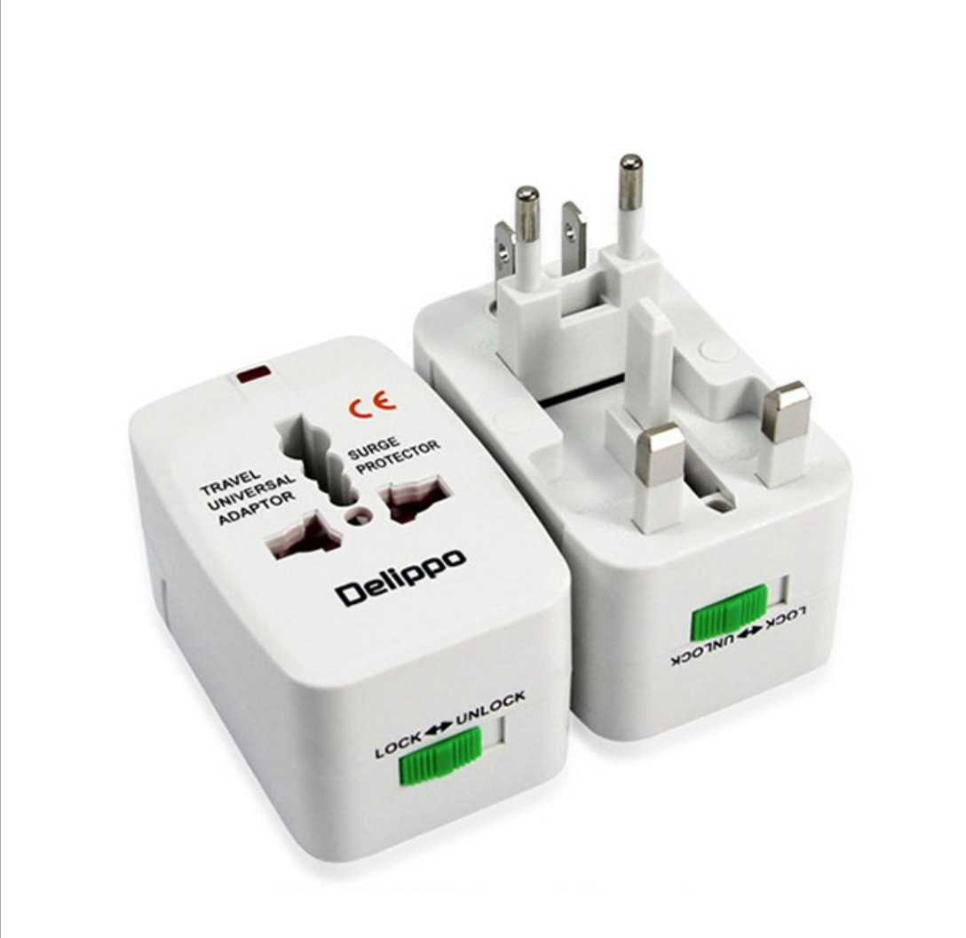 Travel Adapter, Worldwide All in One Universal Power Adapter AC Plug International Wall Charger with Dual USB Charging Ports for US EU UK Europe Japen Cell Phone (White-2Pack)