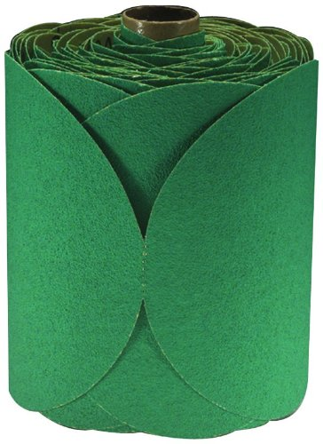 3M 01506 Stikit Green 6'' 80D Grit Fre-Cut Disc Roll (Pack of 10)