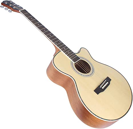 T-XYD Guitarras Acústica Guitarra folklórica de 40 Pulgadas Picea ...