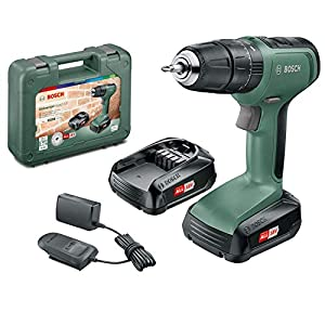Bosch DIY tools 06039C8171 UniversalImpact 18 Cordless Combi Drill with Two 18 V Lithium-Ion Batteries, Design 2019…