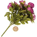 Duovlo-Fake-Flowers-Vintage-Artificial-Peony-Silk-Flowers-Wedding-Home-DecorationPack-of-1-Purple