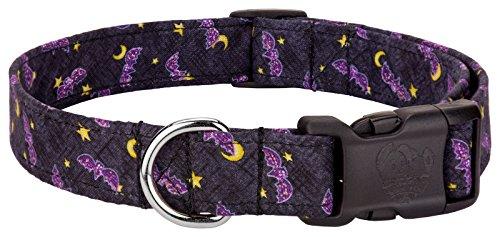 Country Brook Design Halloween Bats & Stars Designer Dog Collar-L