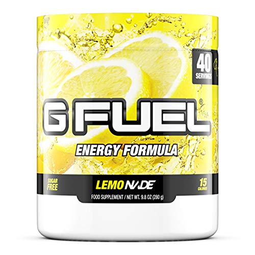 G Fuel Lemonade Tub (40 Servings) Elite Energy and Endurance Formula,9.8 ounces (G Fuel Flavors)